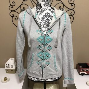 Lucky Lotus Softest Knitwear Embroidered Hoodie S